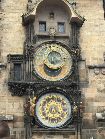 Looking at the astronomical clock