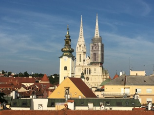 View of Zagreb's lower town