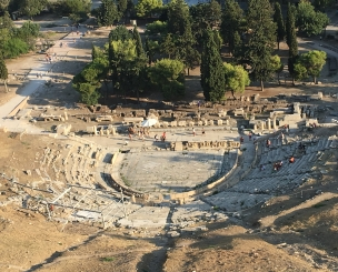 Looking over the Theater of Dionysus