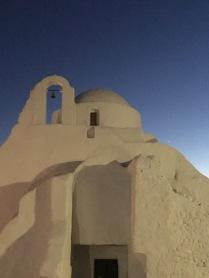 A church in the dusk light