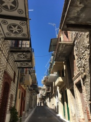 One of the alleys in Pyrgi